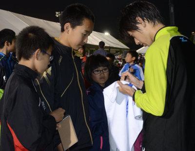 アジア大会マラソン代表の松村康平選手(三菱重工長崎)に ...